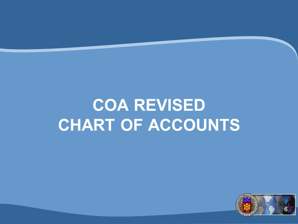 COA REVISED CHART OF ACCOUNTS