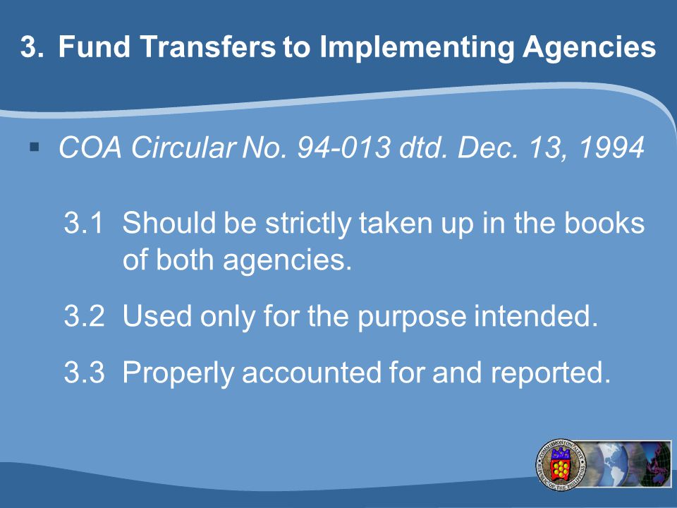 Fund Transfers to Implementing Agencies
