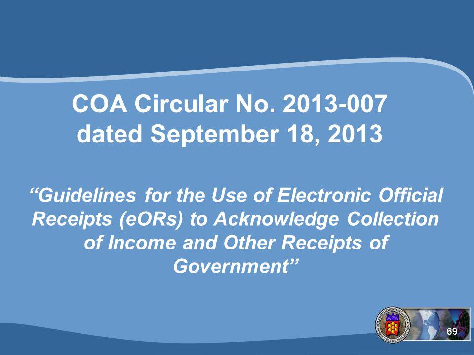 COA Circular No. 2013-007 dated September 18, 2013