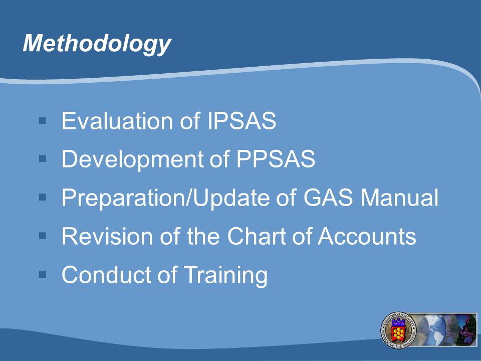 Preparation/Update of GAS Manual Revision of the Chart of Accounts