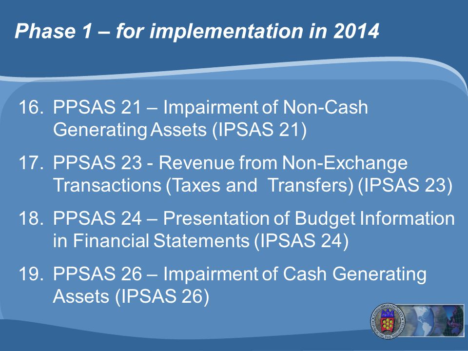 Phase 1 – for implementation in 2014