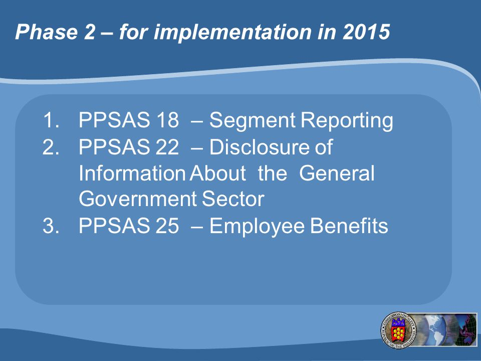 Phase 2 – for implementation in 2015