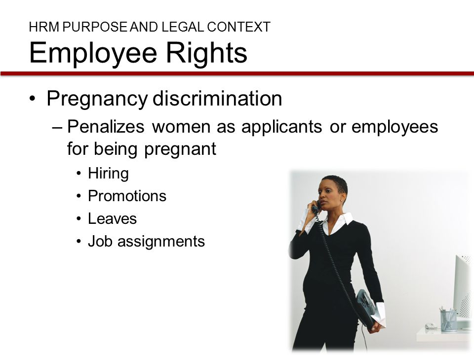 HRM Purpose and Legal Context Employee Rights