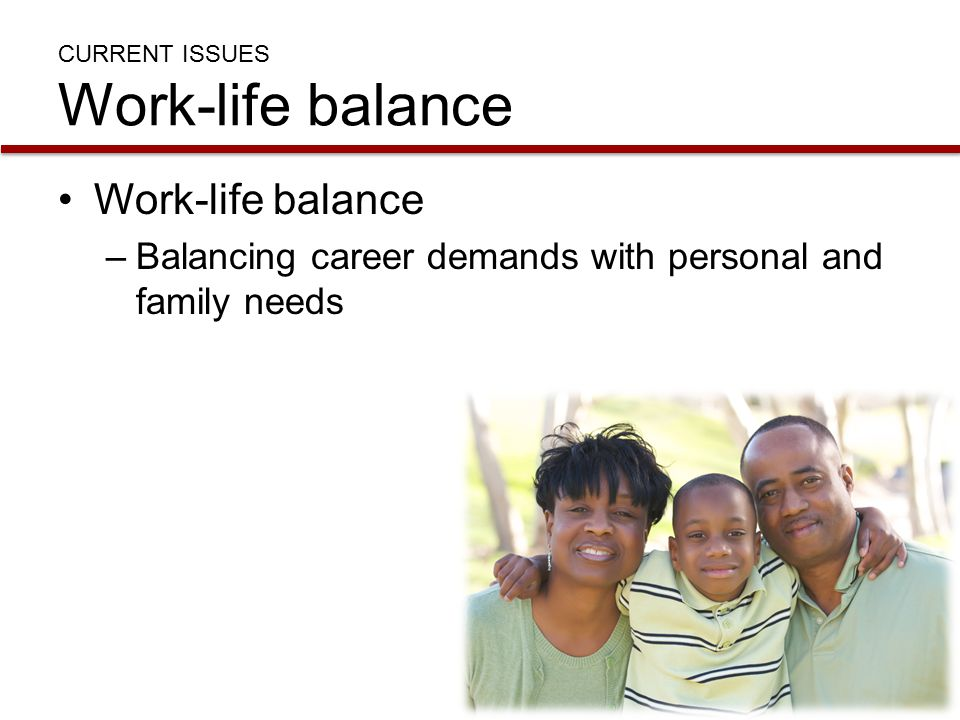 CURRENT ISSUES Work-life balance