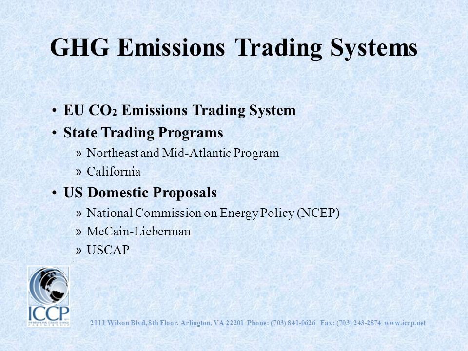 GHG Emissions Trading Systems