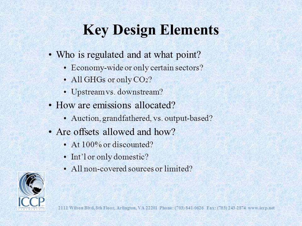 Key Design Elements Who is regulated and at what point