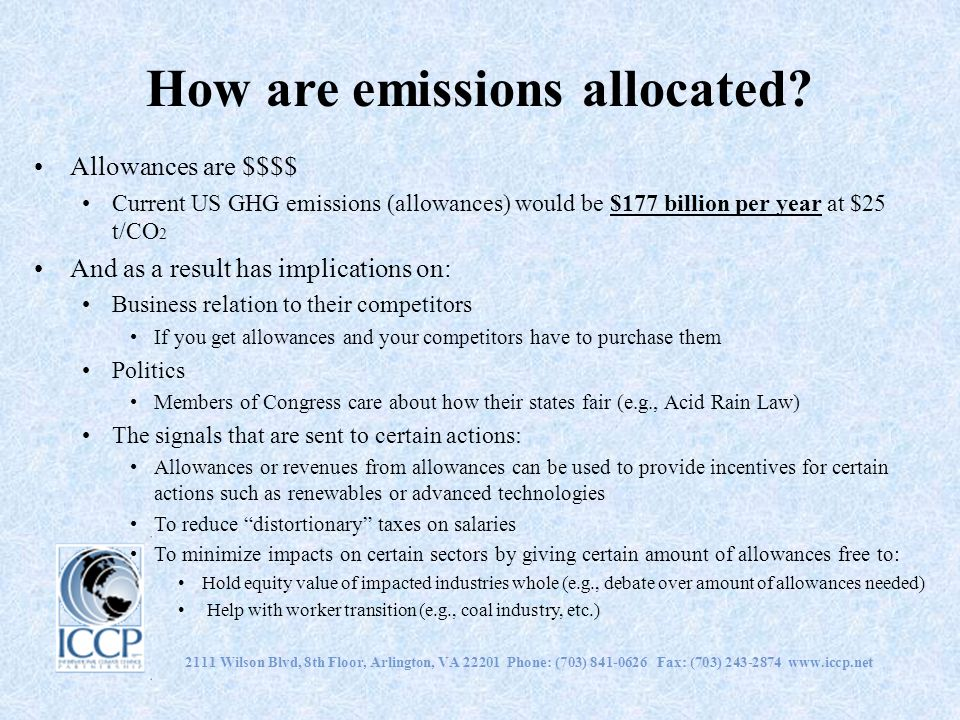 How are emissions allocated