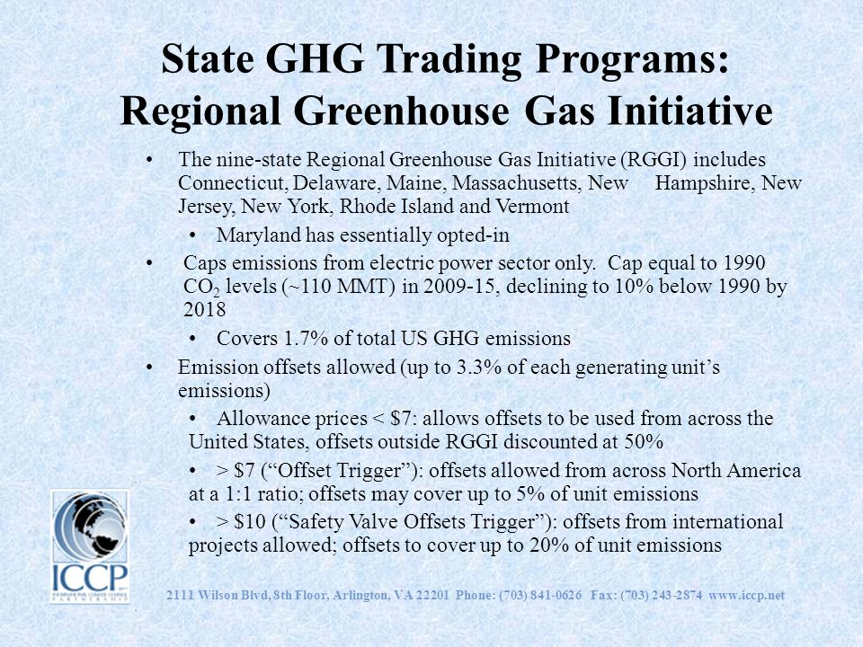 State GHG Trading Programs: Regional Greenhouse Gas Initiative
