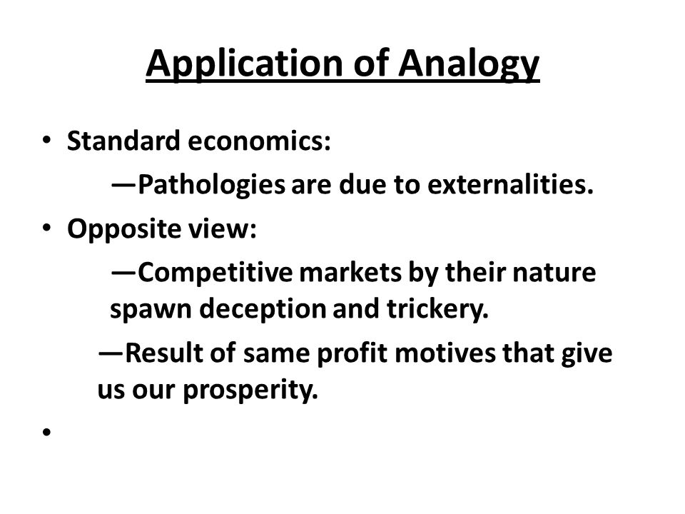 Application of Analogy
