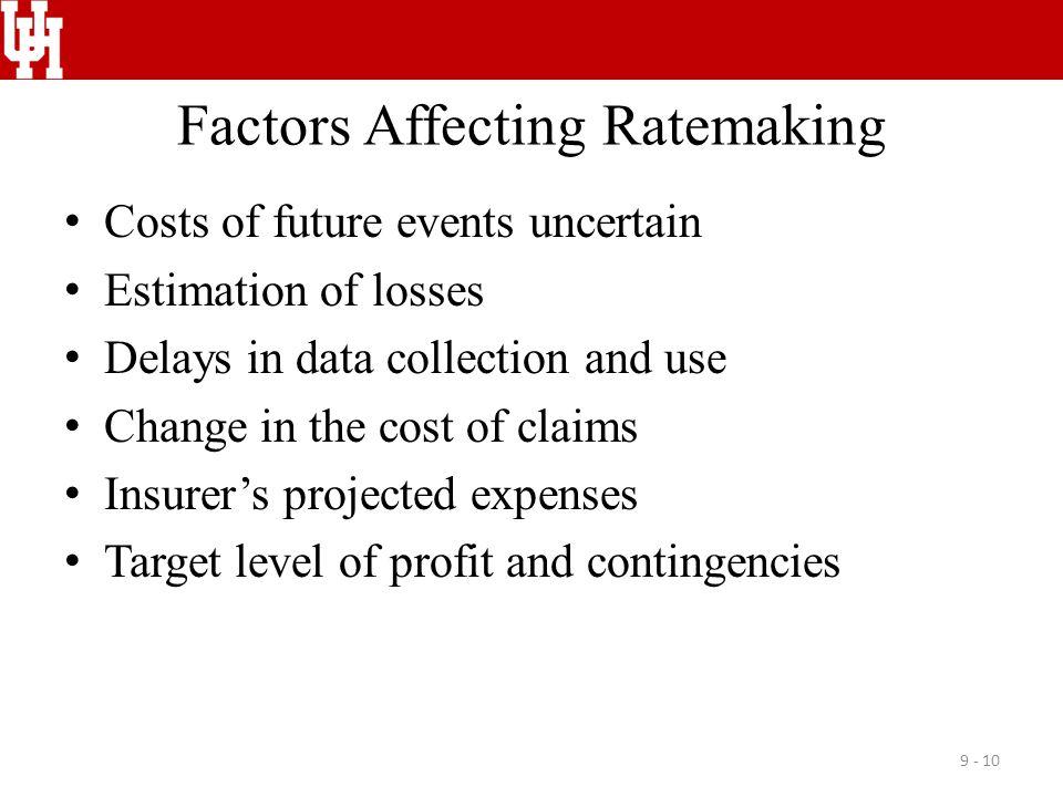 Factors Affecting Ratemaking