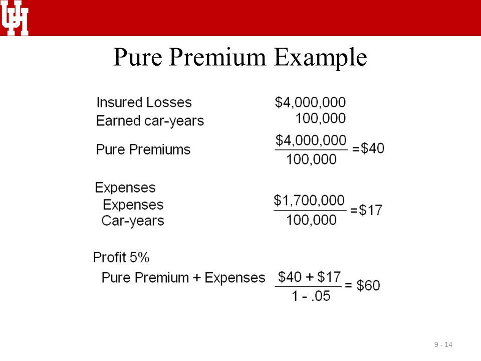 Pure Premium Example
