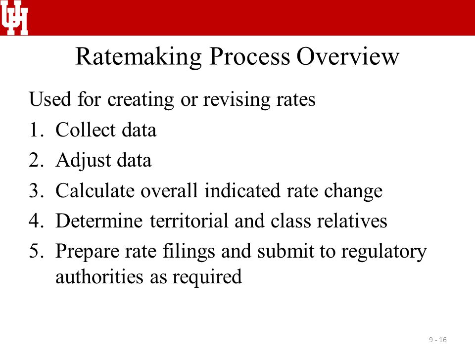 Ratemaking Process Overview