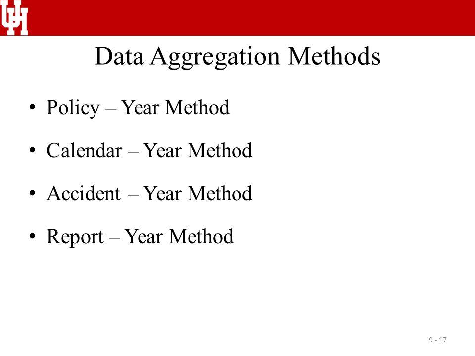 Data Aggregation Methods