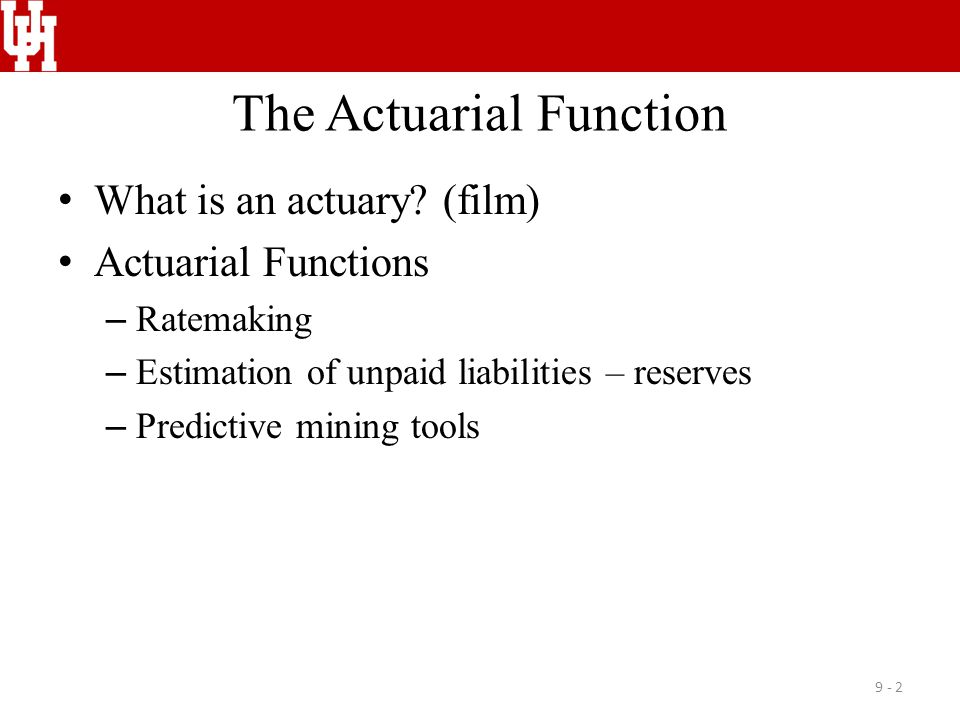 The Actuarial Function