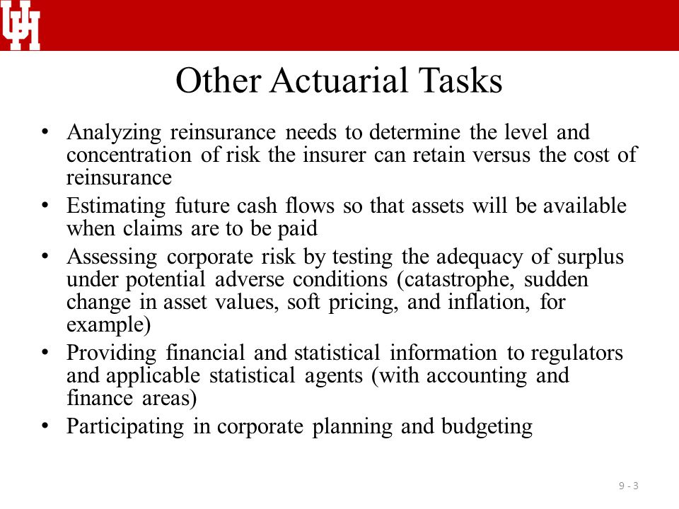 Other Actuarial Tasks