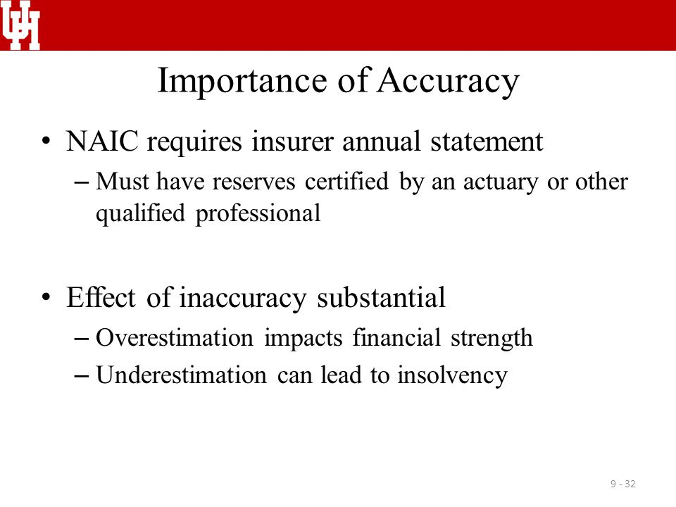 Importance of Accuracy