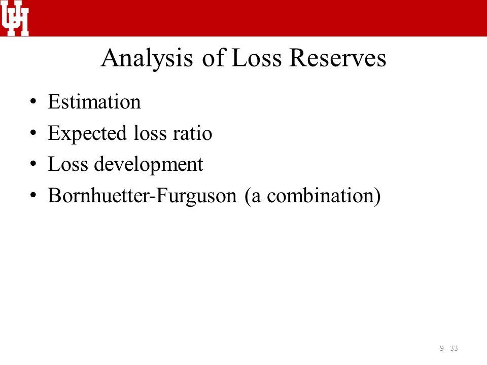 Analysis of Loss Reserves