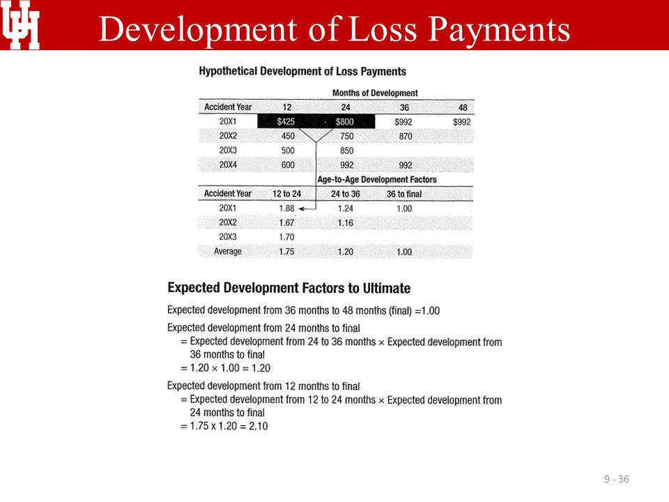 Development of Loss Payments