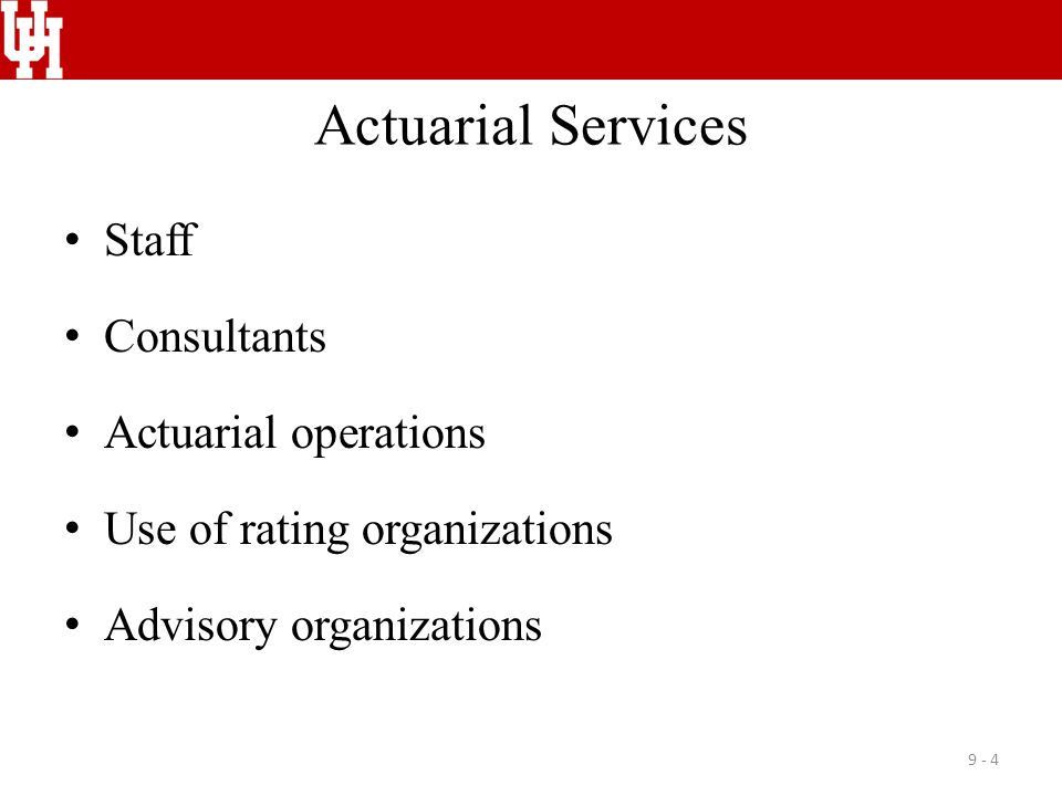 Actuarial Services Staff Consultants Actuarial operations