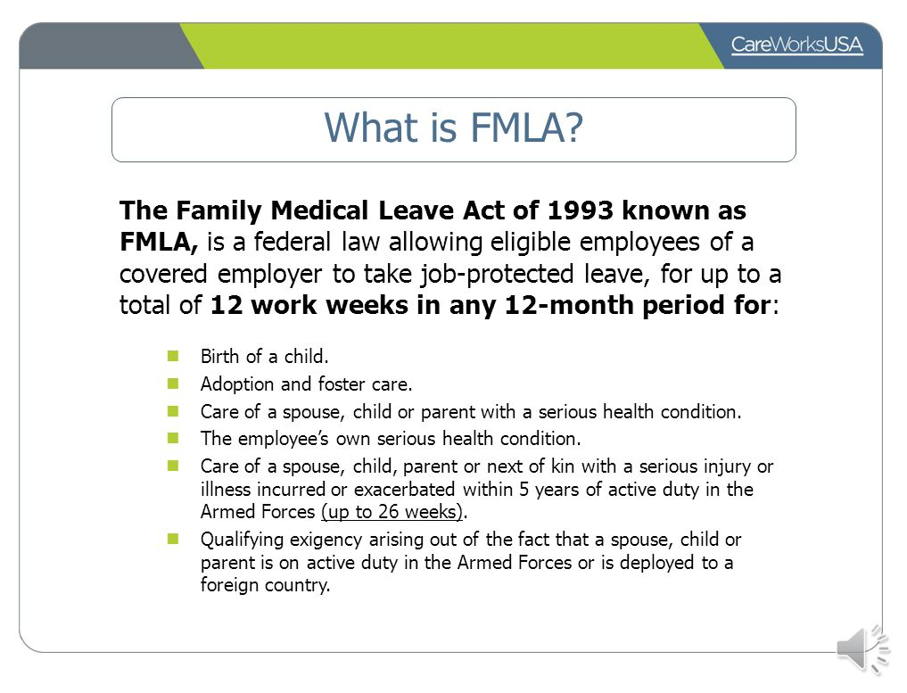 Family medical leave administration program ppt video online download what is fmla falaconquin