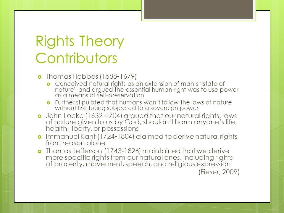 Rights Theory Contributors
