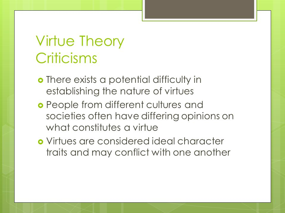 Virtue Theory Criticisms