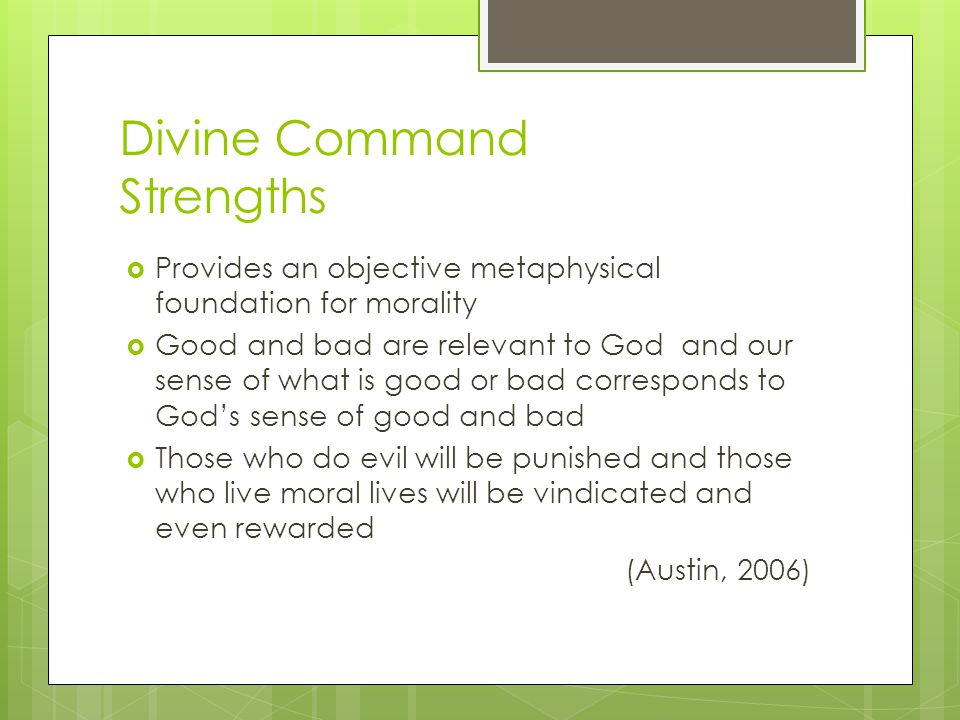Divine Command Strengths
