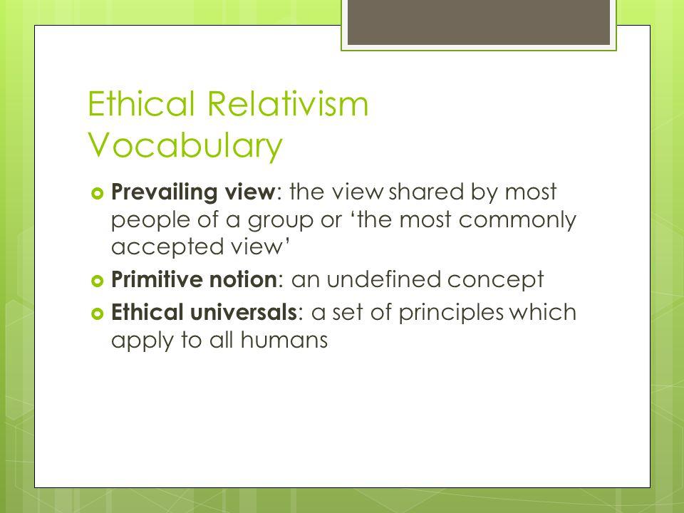 Ethical Relativism Vocabulary