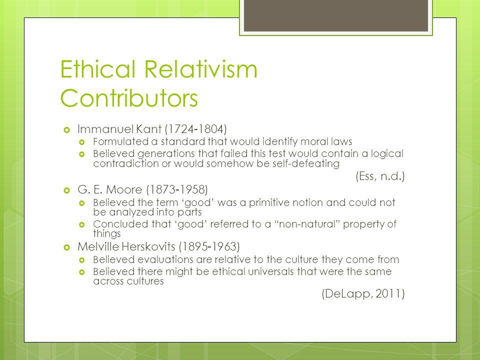 Ethical Relativism Contributors