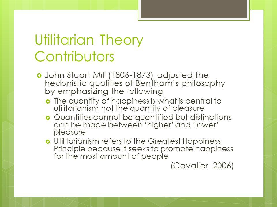 Utilitarian Theory Contributors