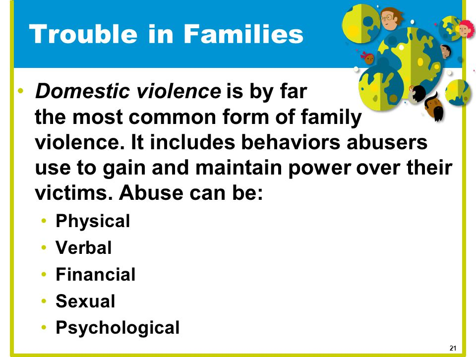 Trouble in Families