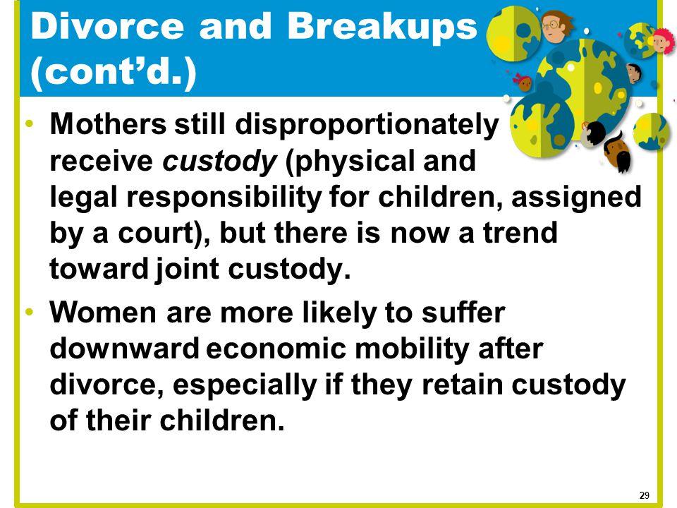 Divorce and Breakups (cont'd.)