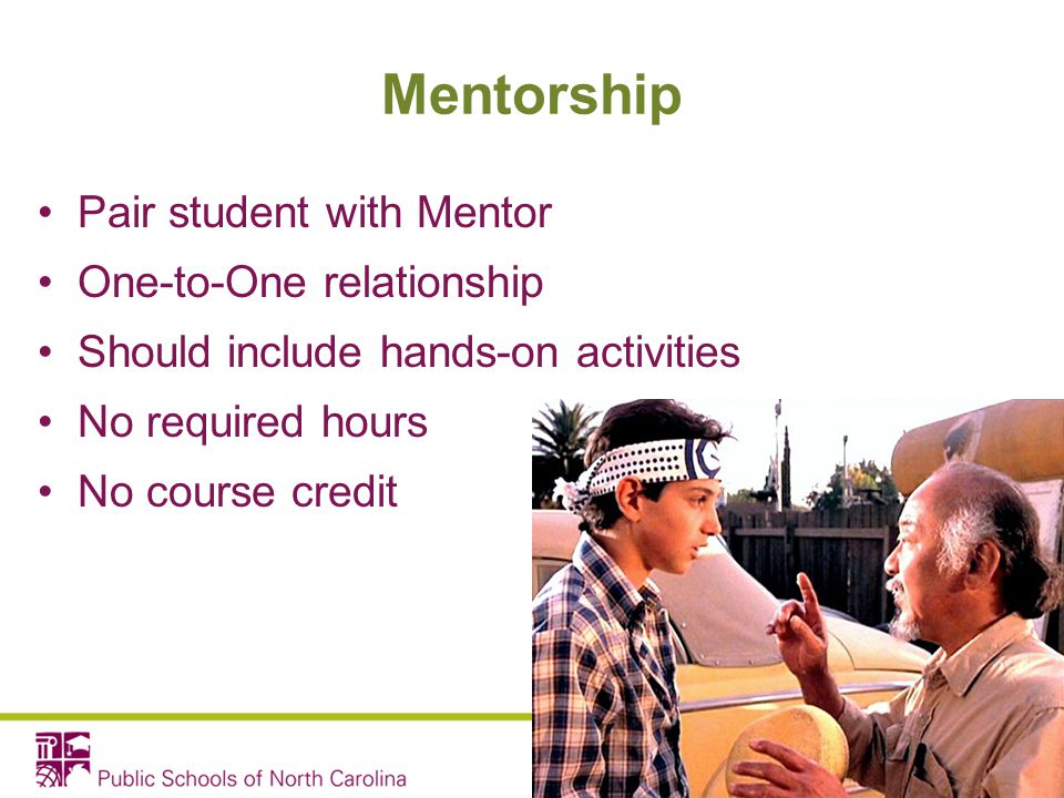 Mentorship Pair student with Mentor One-to-One relationship