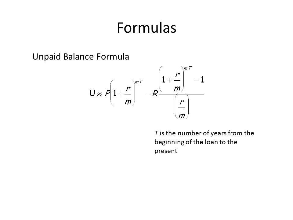 amortized loans formula