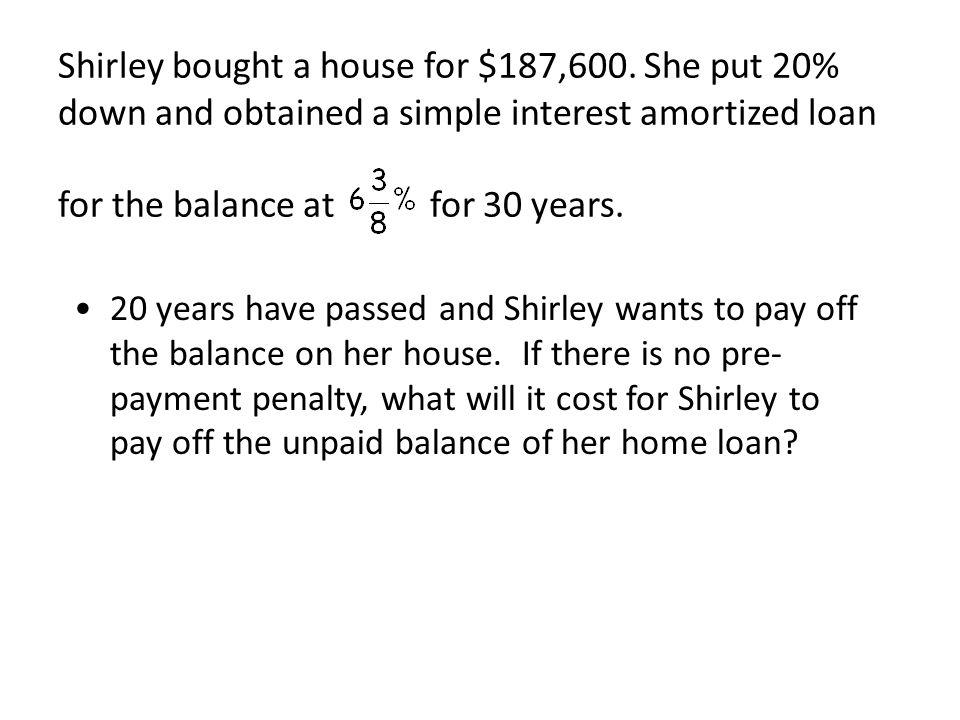 Amortized Loans (MAT 142)