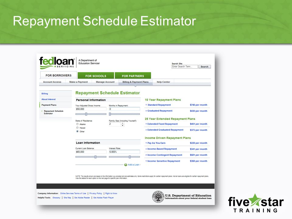 Repayment Schedule Estimator