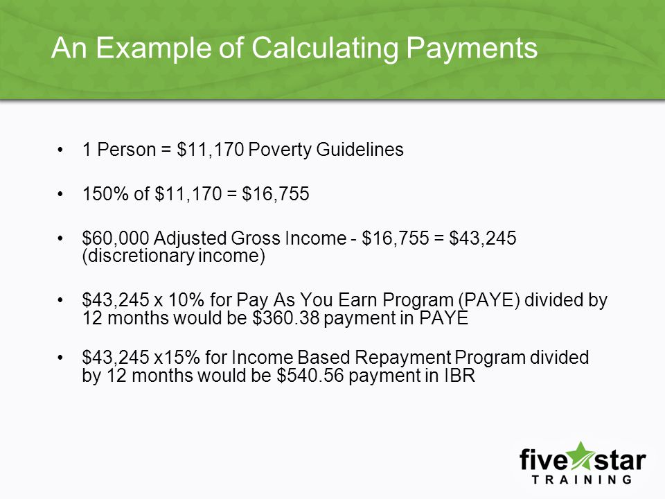 An Example of Calculating Payments