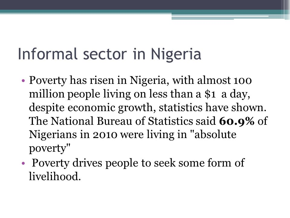 Informal sector in Nigeria