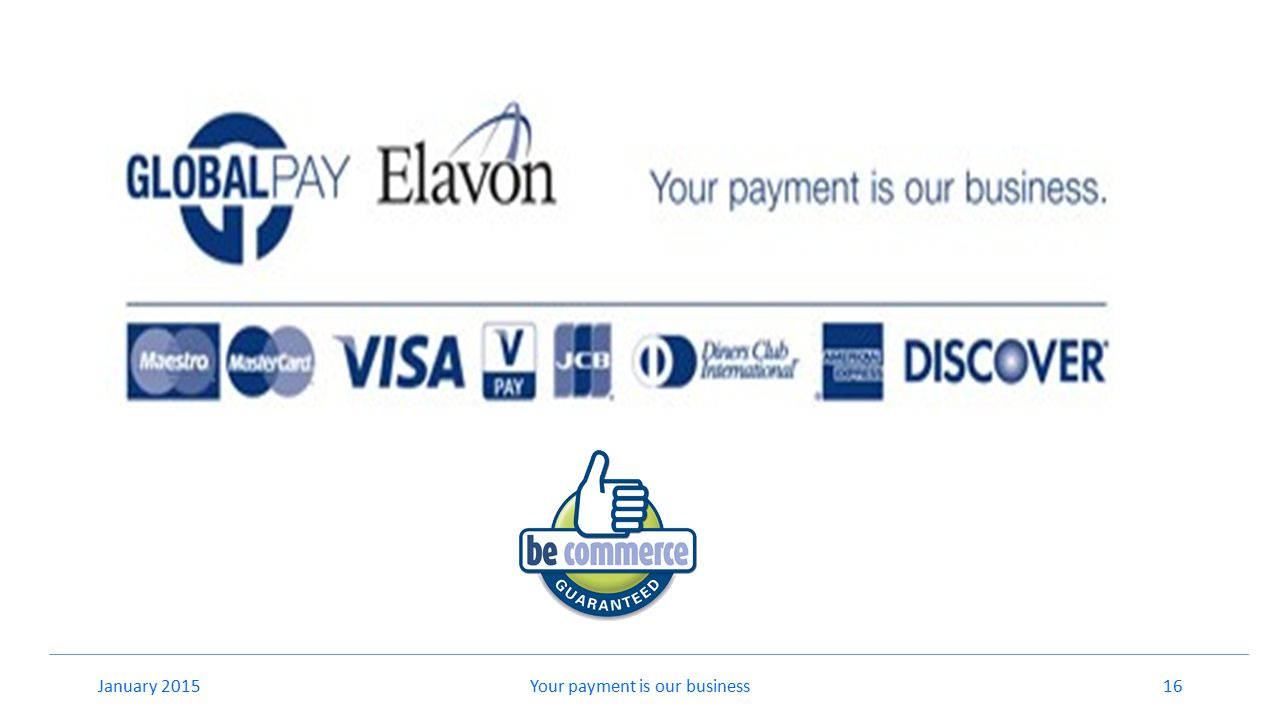 Your payment is our business