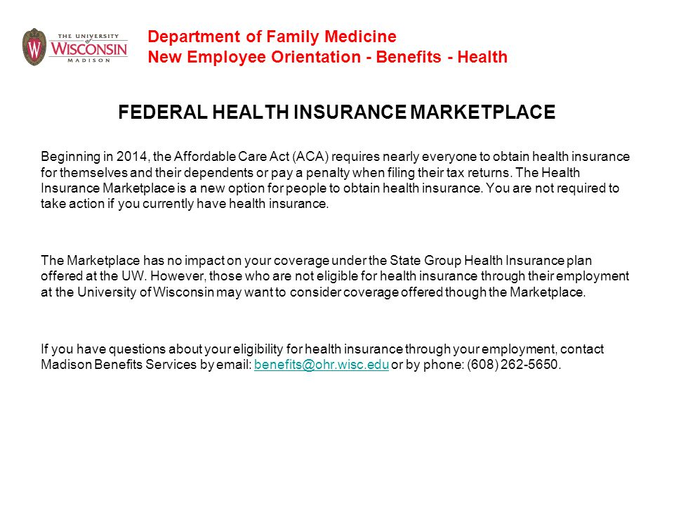 FEDERAL HEALTH INSURANCE MARKETPLACE