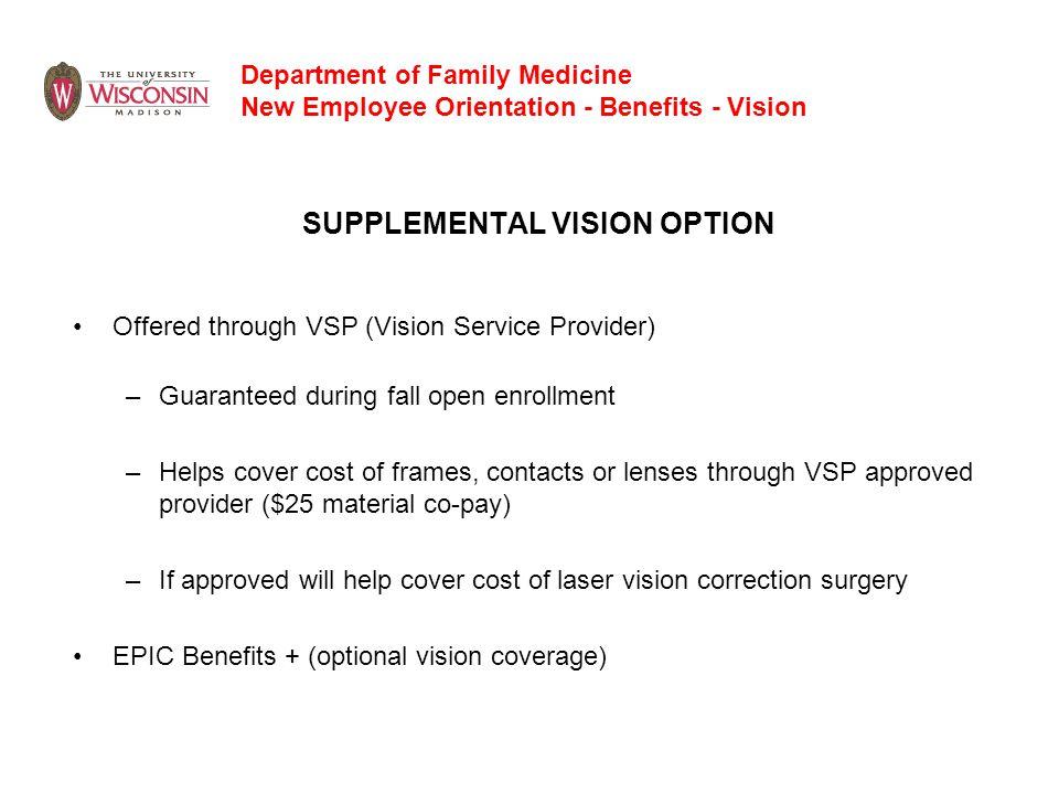 SUPPLEMENTAL VISION OPTION