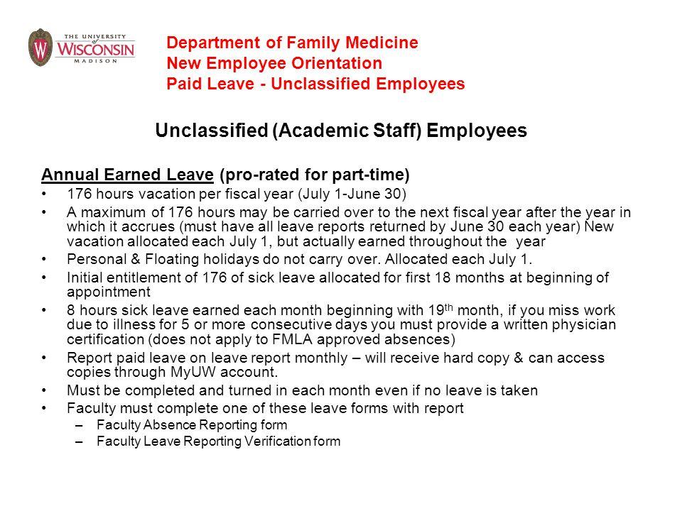 Unclassified (Academic Staff) Employees