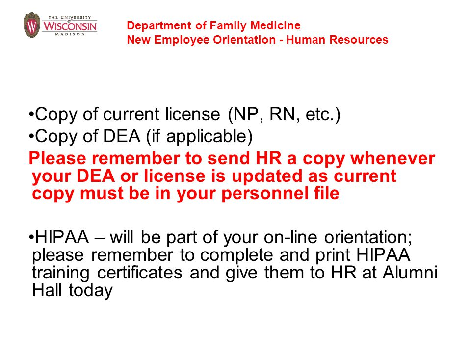Copy of current license (NP, RN, etc.) Copy of DEA (if applicable)