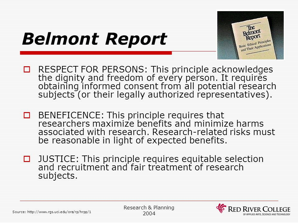Research Ethics Board 4/13/2017. Belmont Report.