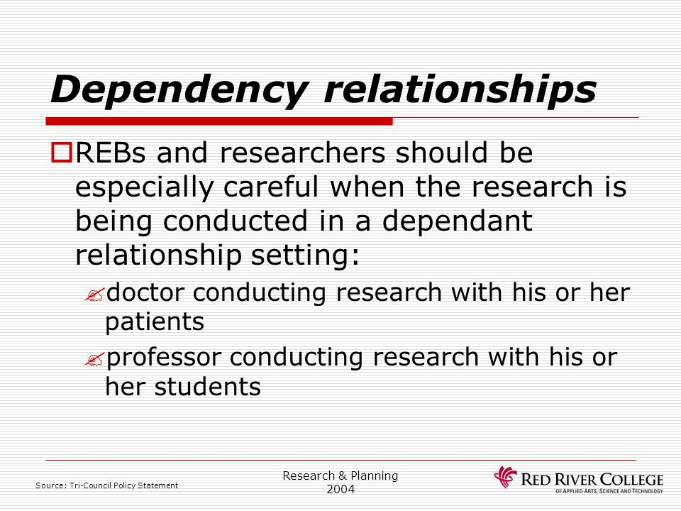 Dependency relationships