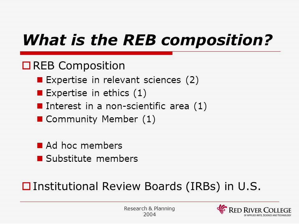 What is the REB composition