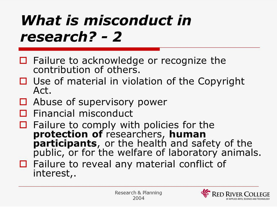 What is misconduct in research - 2
