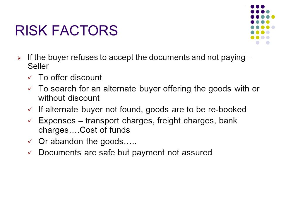 RISK FACTORS To offer discount