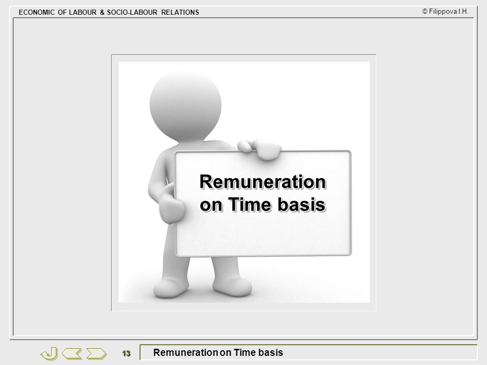 Remuneration on Time basis