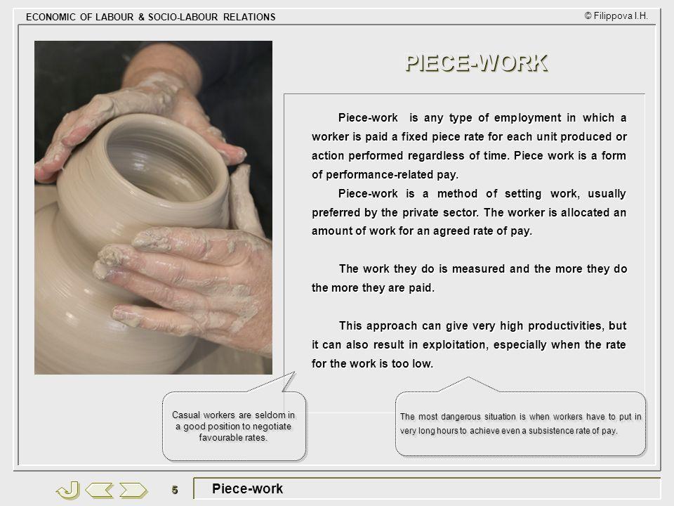 PIECE-WORK Piece-work